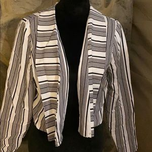 Ashley Stewart linen blazer size 12
